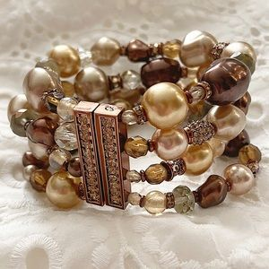 St. John Tahiti-Brown With Drop Bracelet